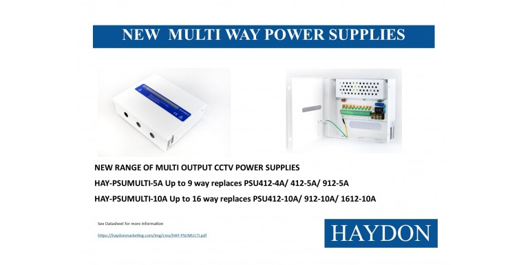 New Multi Way Power Supplies